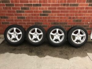 "16"" Alloy Winter Rims 5 Bolt Multi & Snow Tires (205/60) Package"