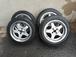 17 inch tires and Rims for sale-Mustang