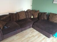 Corner sofa with 2 seater sofa