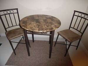 Faux Cafe Table & Chairs