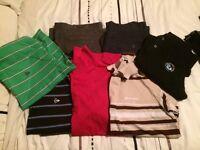 Various golf clothes