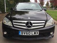 Mercedes C Class 2.1 C 250 CDI BLUEEFFICIENCY SPORT Good / Bad Credit Car Finance (black) 2010