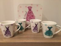 Set of 4 x Chunky Mugs by Rosanna - Dress / Fashion Design