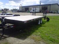 FOR SALE – 22  Foot  DoveTail Flat Deck Trailer
