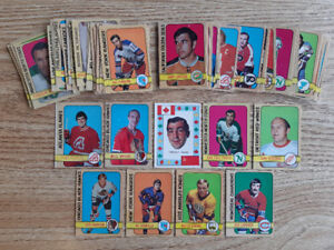 66 cards from 1972-73 O-pee-chee hockey set