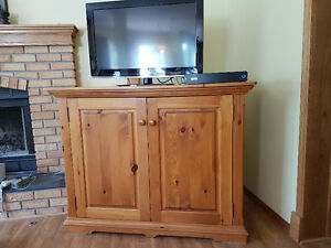 Solid Pine TV Cabinet
