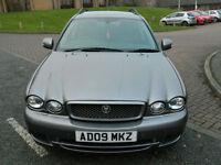 2009 09 Jaguar X-Type 2.2 D SE AUTO 5dr WITH LTHR+SATNAV+F&R P/SENSORS