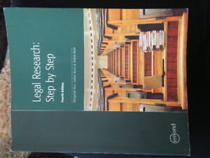 LEGAL RESEARCH for Paralegal/Law Clerk Book For Sale
