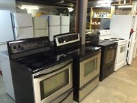 Great selection of guaranteed working appliances 7 days a week