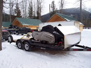 Custom Snowmobile/ Car Hauler Dual Purpose Tandem Trailer