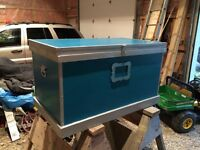 Fancy potable tack box with lock and wheels