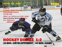 École de Hockey---  HOCKEY DIRIGÉ 1 : 2 ----- Aréna de Ste Julie