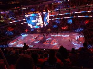 Oilers vs Avalanche four tickets $125/each