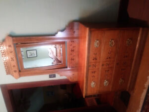 Antique butternut dresser