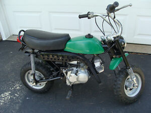 1971 Kawasaki Parnelli Jones 75 CC MT1 Mini-Trail Bike.