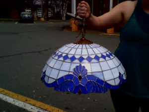 Hand made stain glass lights