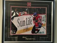 Max Pacioretty signed framed 11x14