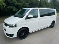2013 Volkswagen Transporter T5 TDI 8 SEAT SHUTTLE SE LWB IN WHITE Shuttle Diesel