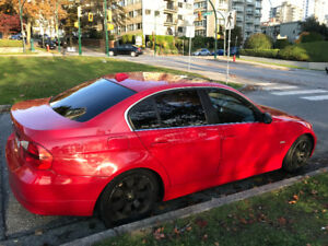 2006 BMW 330i red manual transmision