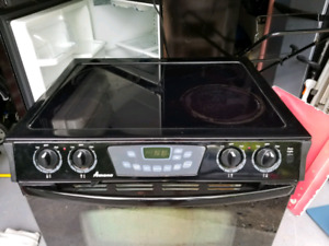 Glass top self clean oven