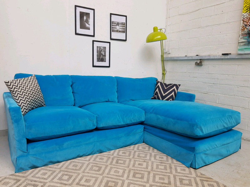 best loved 840bd ba356 Loaf style Sofa com Otto corner chaise sofa in Blue velvet RRP £2800 | in  Fishponds, Bristol | Gumtree