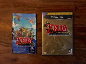 Zelda: The Wind Waker for Gamecube (Manual, Box, and Disk)