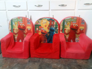 Sesame street plush chairs
