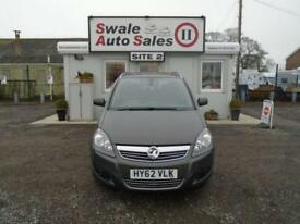 2012 VAUXHALL ZAFIRA 1.6 DESIGN - 33,200 MILES - SERVICE HISTORY - LOW MILEAGE