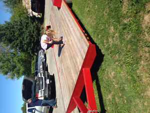 18 foot flat bed trailer