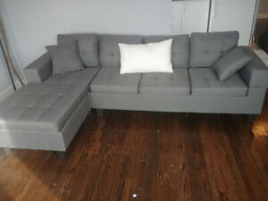 Gray Sectional - Nearly Brand New!