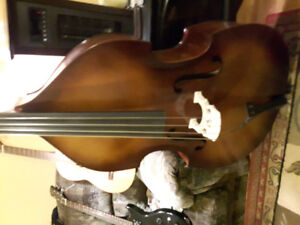 New Menzel stand up bass and new guitars for sale
