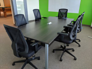 Board Room Table w/power and storage.