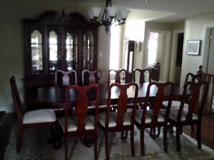 15 piece Cherry Dining Room Set