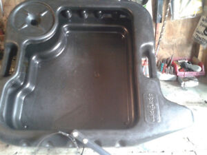 Oil change pan w/ filter wrench (variety to offer)