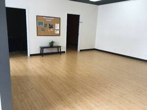 Partially furnished office with flexible lease terms