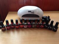 Genuine gellux led lamp with gel polishes all full bottles