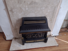 Free gas fire and fire place