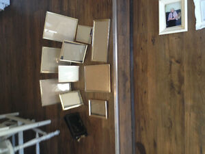 10 vintage looking gold frames with real vintage photo album