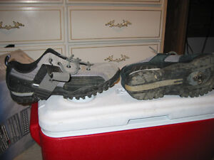 Shimano men's size 10 clip less shoes and pedals for sale Prince George British Columbia image 3
