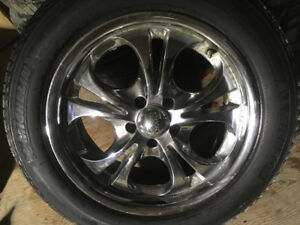 """4- 18"""" Rims with Tires"""