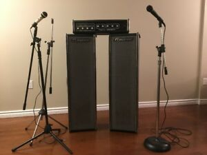 Vintage Traynor Voicemate PA System and microphones w/stands