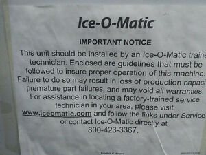 "NEW IN THE CRATE Ice-O-Matic30"" Resturant Ice Maker  ICE0500HT Oakville / Halton Region Toronto (GTA) image 2"