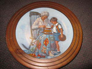 "Sandra Kuck ""Grandma's Cookie Jar"" Decorative Plate, Framed -$35"