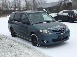 Mazda MPV 2004 familliale stow n go 4 pneus hiver 4 pneu d'été