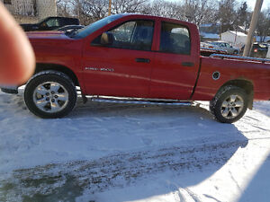 2005 Dodge Power Ram 1500 Red Pickup Truck slt