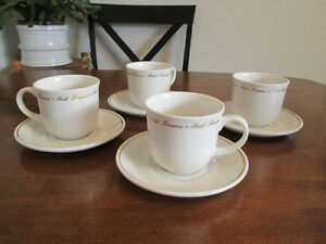 ROYAL DOULTON  Fine China Cups and Saucers Set of four. Kingston Kingston Area image 1