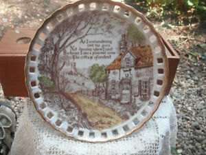 OLD PLATE WITH A VERSE