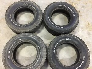 used BF Goodrich tires LT 285 70 17  285/70/R17 off dodge ram