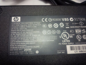 Hp Dell AC ADAPTER HSTNN-DA16 200W ouput 19.5V 10.3A Kitchener / Waterloo Kitchener Area image 2