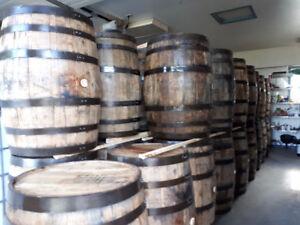 LOOK >>Whiskey & Bourbon Whiskey Oak Barrels, $200 to $325 each